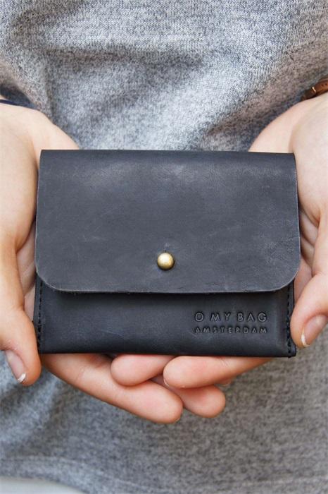 O My Bag - Cardholder, Black Hunter Leather