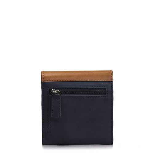 O My Bag - Georgies Wallet, Black/Cognac Classic Leather