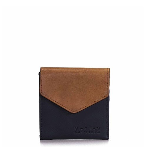O My Bag - Georgies Wallet, Black/Cognac Classic Leather