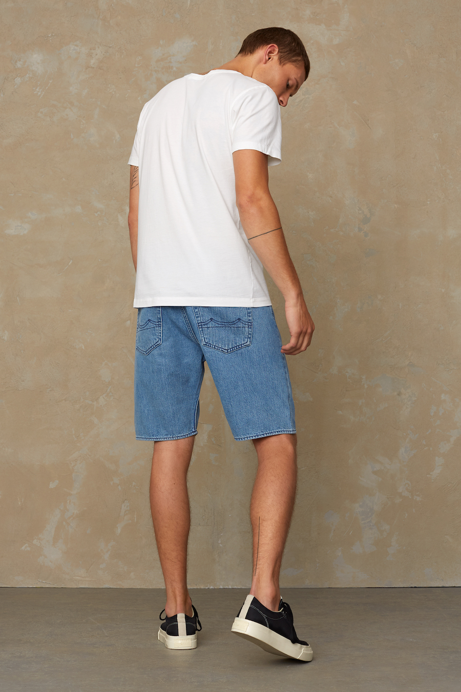 Kings of Indigo - Lucius Denim Shorts, Light Marble