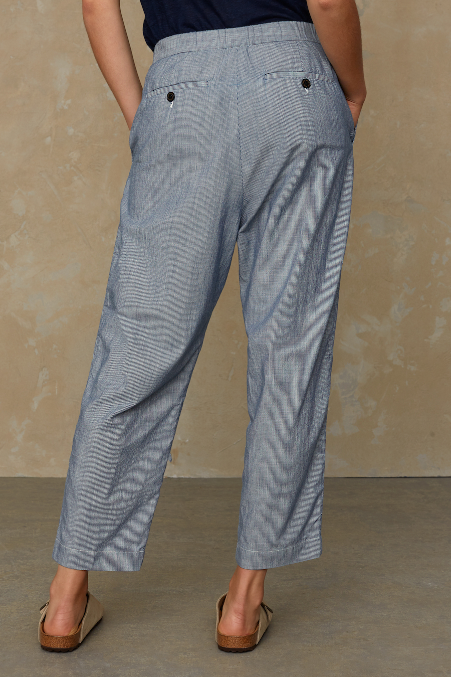 Kings of Indigo - Lourdes Pant, Blue Fine Stripe