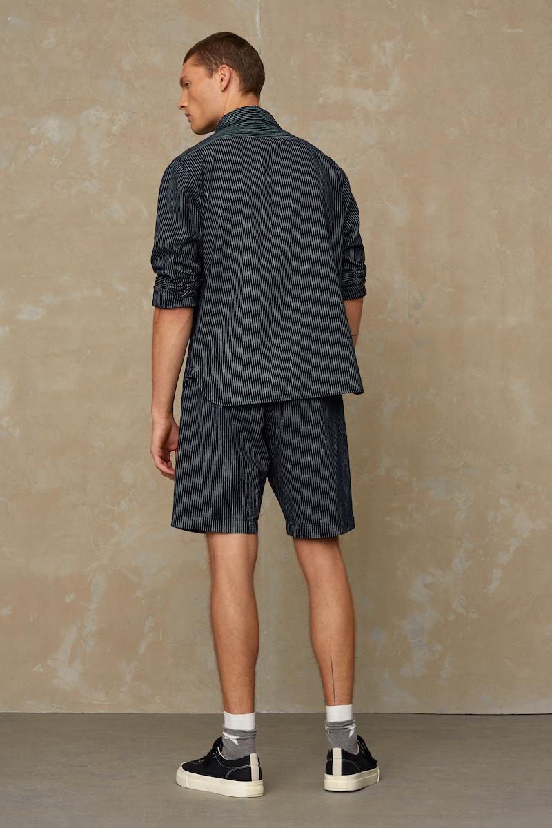 Kings of Indigo - Cronus Shorts, Stripe Indigo