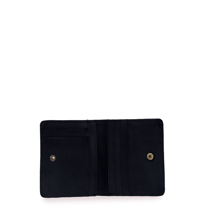 O My Bag - Alex Fold Over Wallet, Black Classic Leather