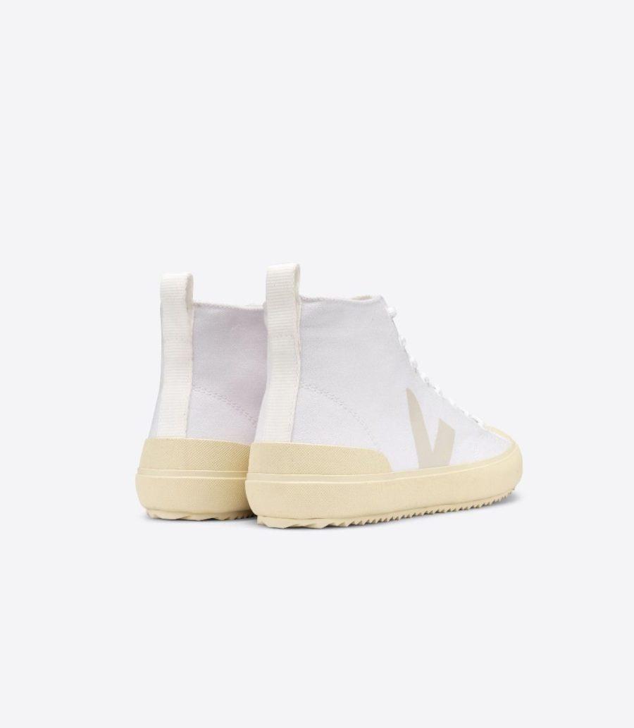 Veja - Nova High-Top Canvas Sneaker, White Butter-Sole