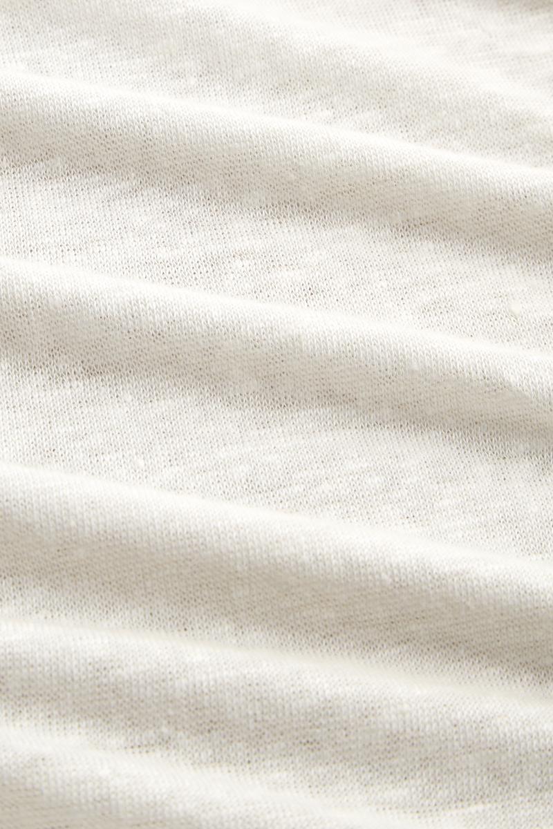 Kings of Indigo - Majaji Linen T-Shirt, Off White