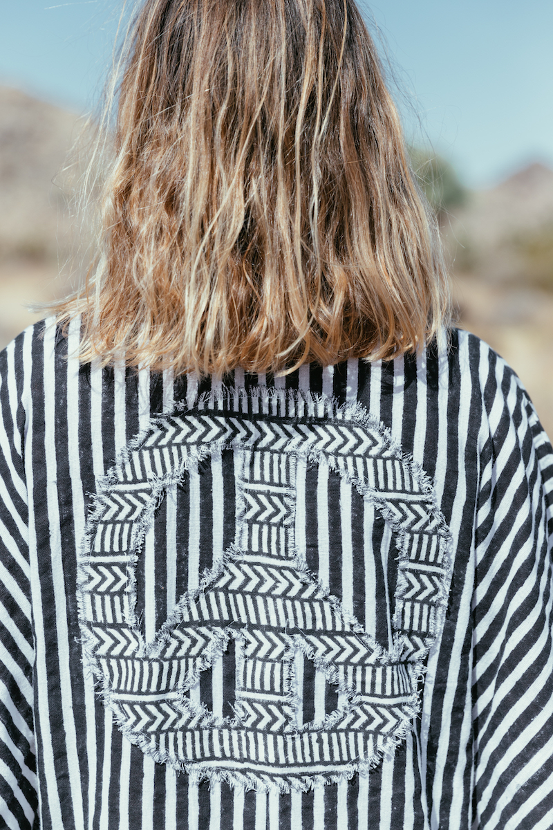 A Perfect Nomad - Let There Be Peace Kaftan, Stripe