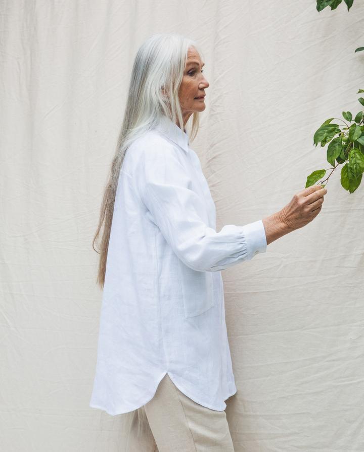 Beaumont Organic - Jacqueline Linen Shirt, White