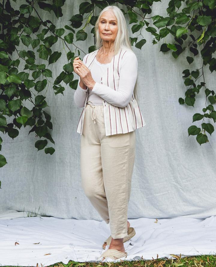 Beaumont Organic - Kayley Linen Trousers, Cream