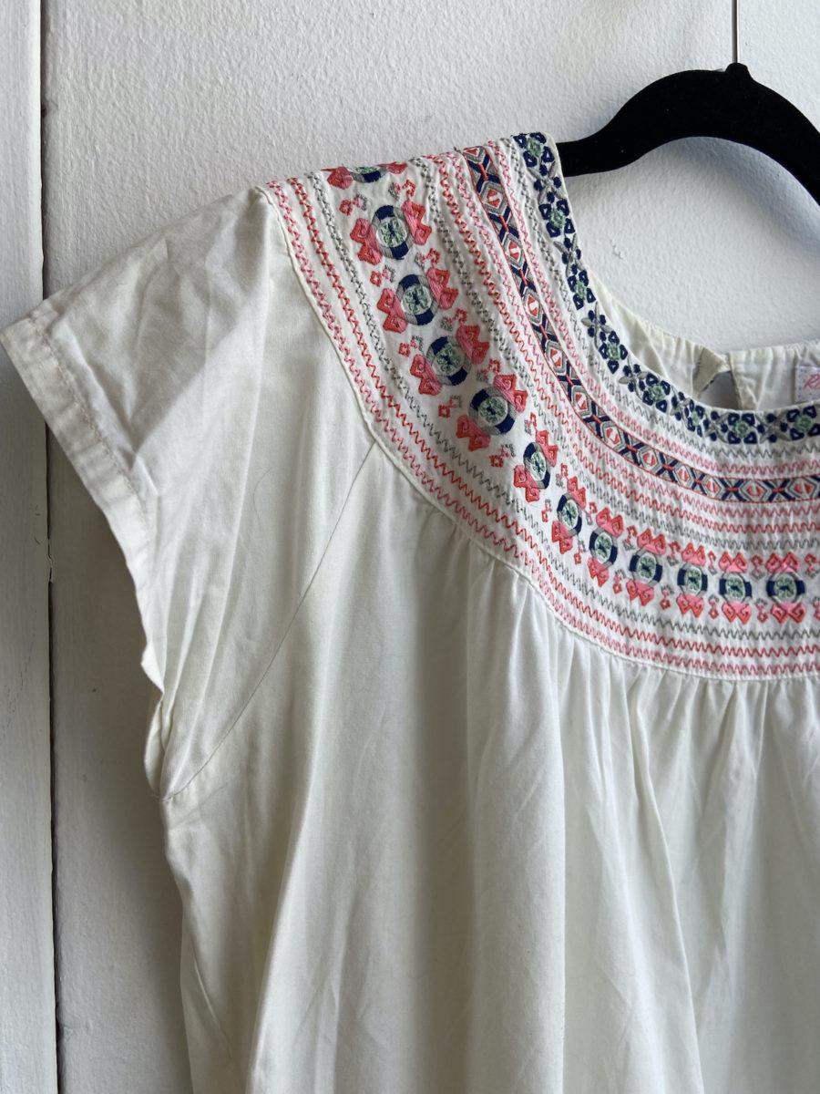 Ecosphere Vintage - White Summer Dress