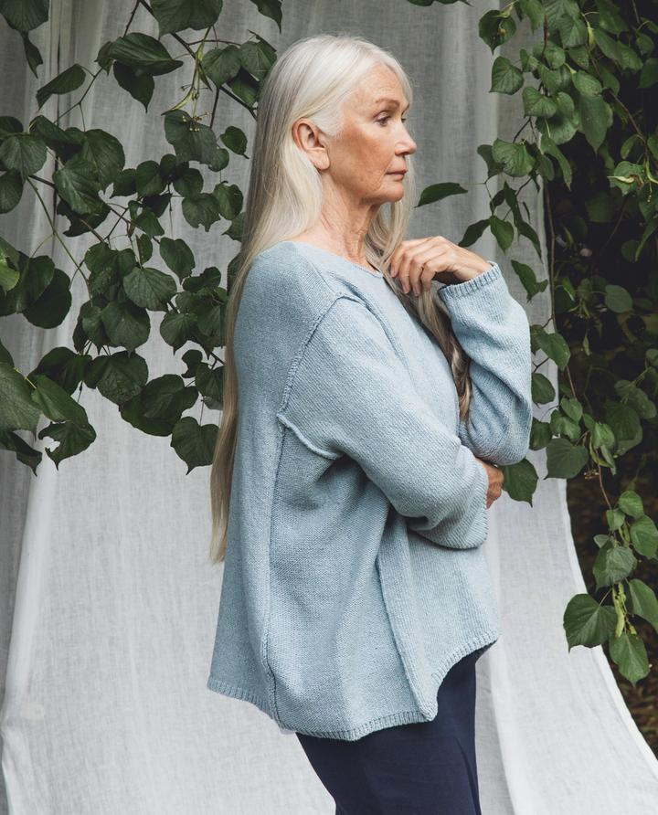 Beaumont Organic - Alessandra Recycled Jumper, Pale Blue