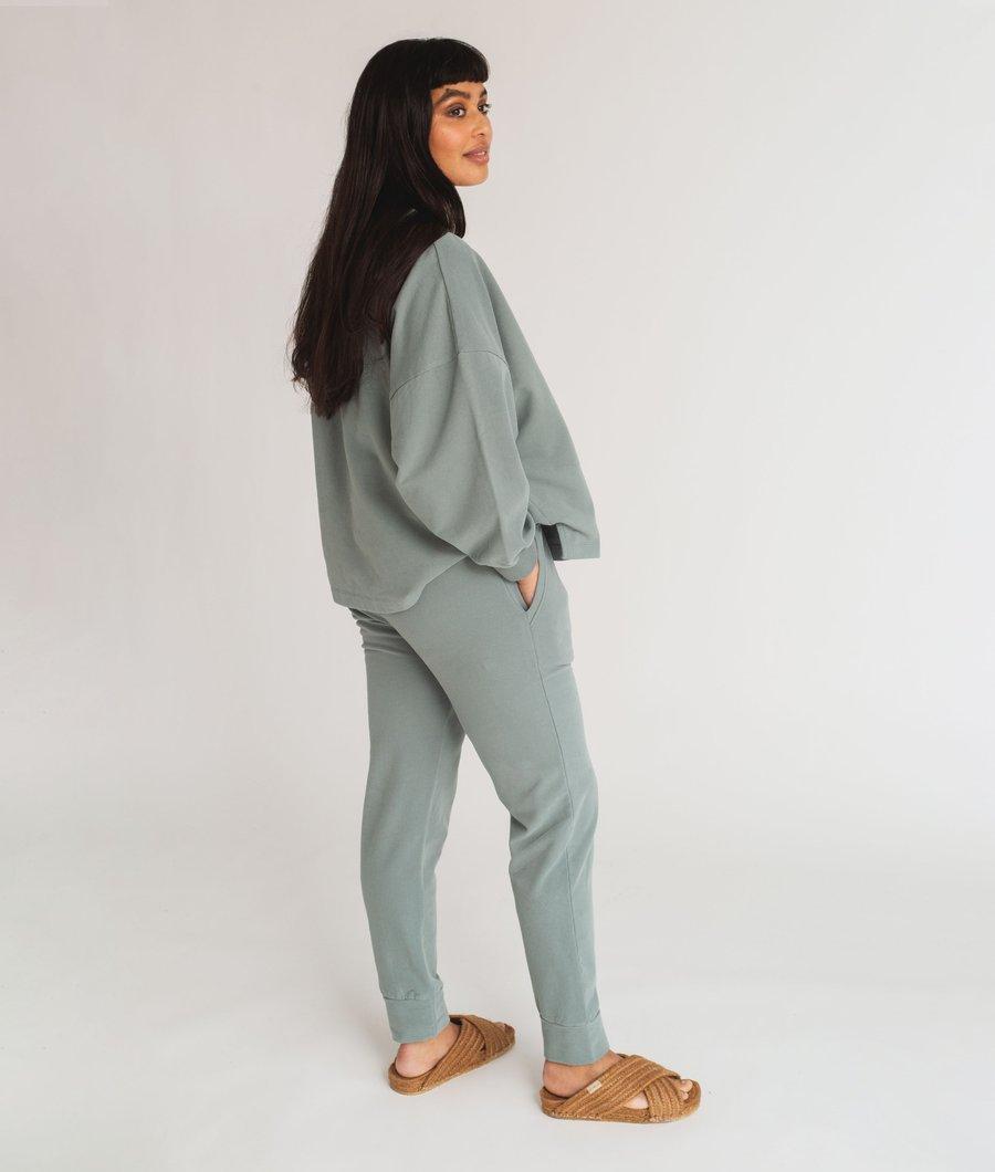 Beaumont Organic - Zadie Organic Cotton Trousers, Ocean