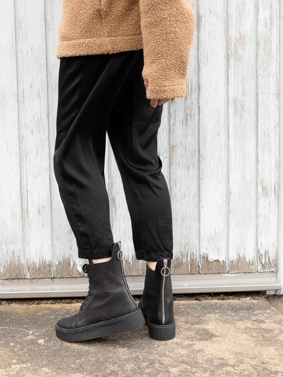 Blankens - The Camden Zipper, Black Leather