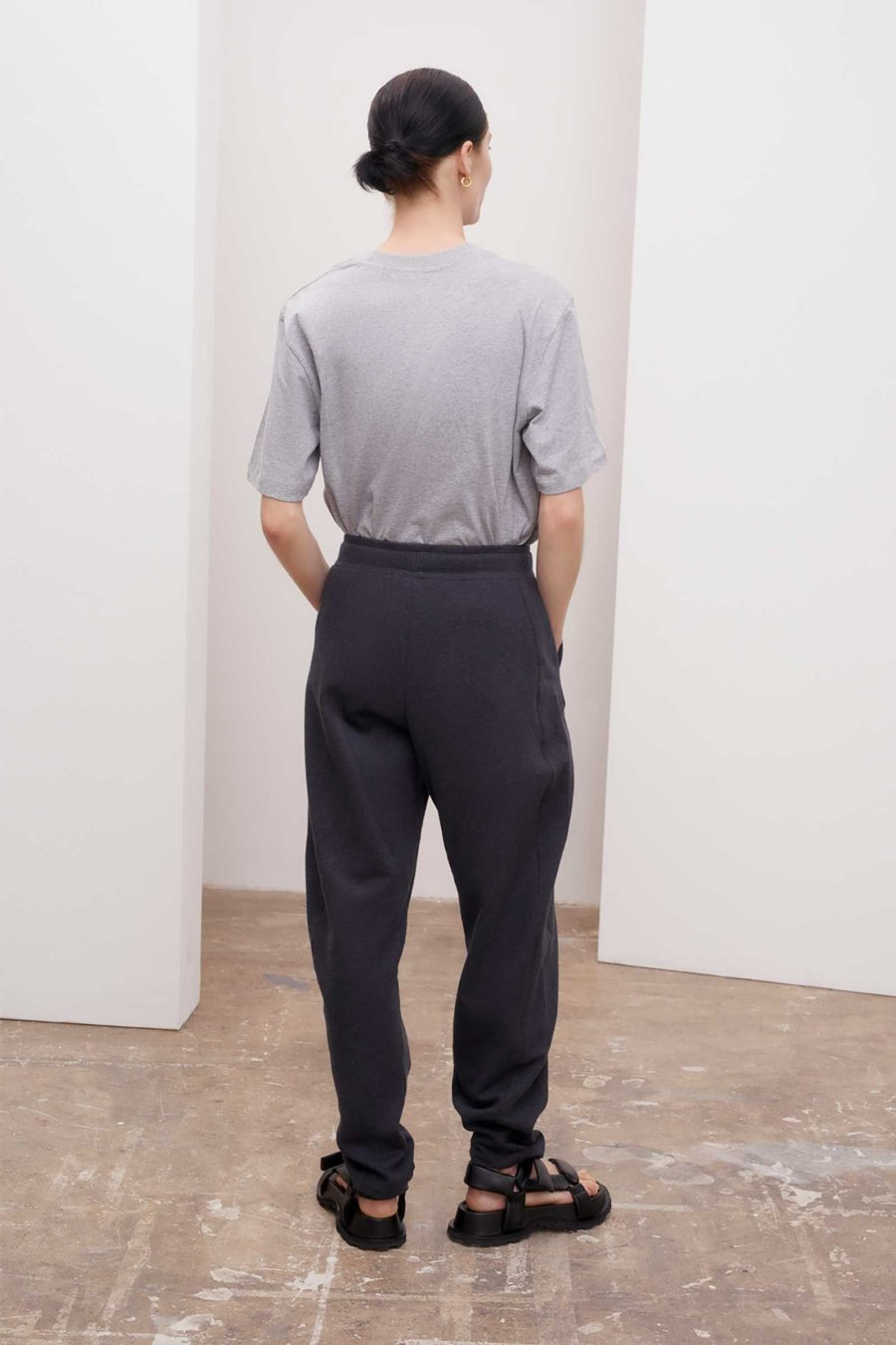 Kowtow - Everyday Track Pant, Charcoal Marle