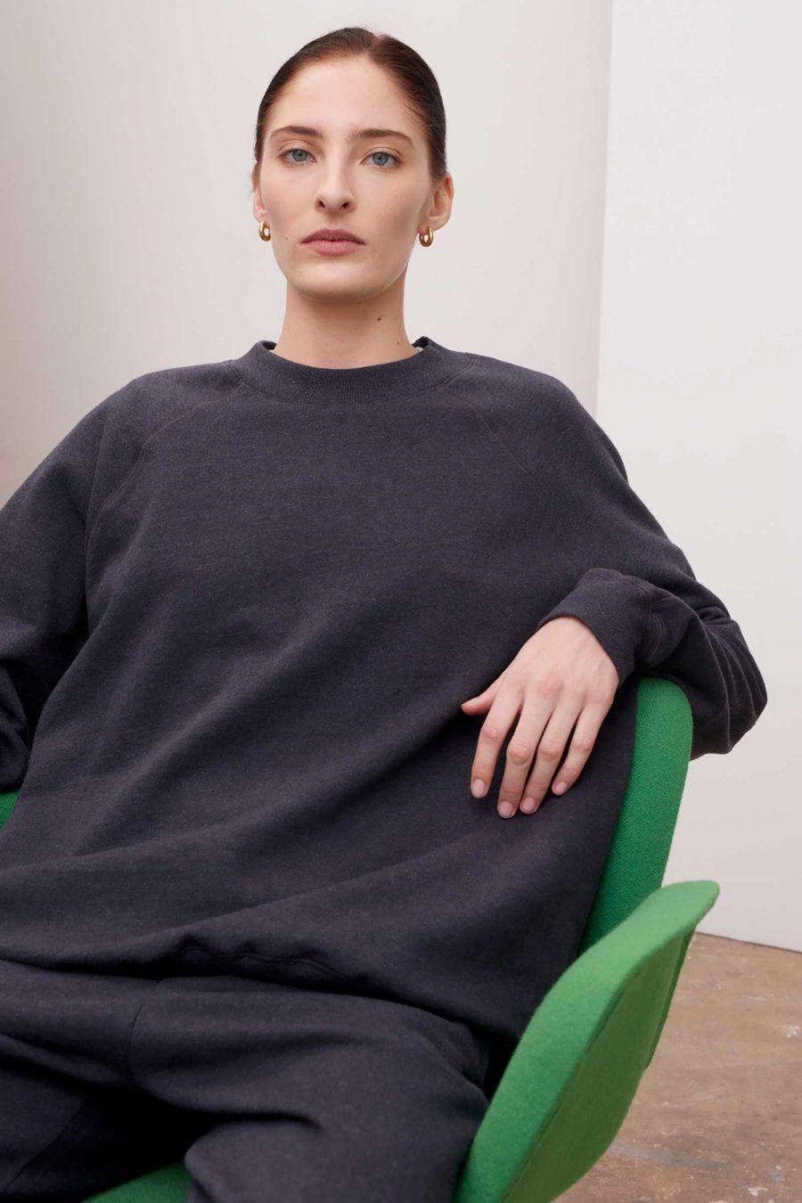 Kowtow - Everyday Crew Sweatshirt, Charcoal Marle