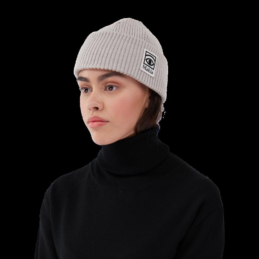 Makia x Olle Eksell - Ögon Wool Beanie, Light Grey