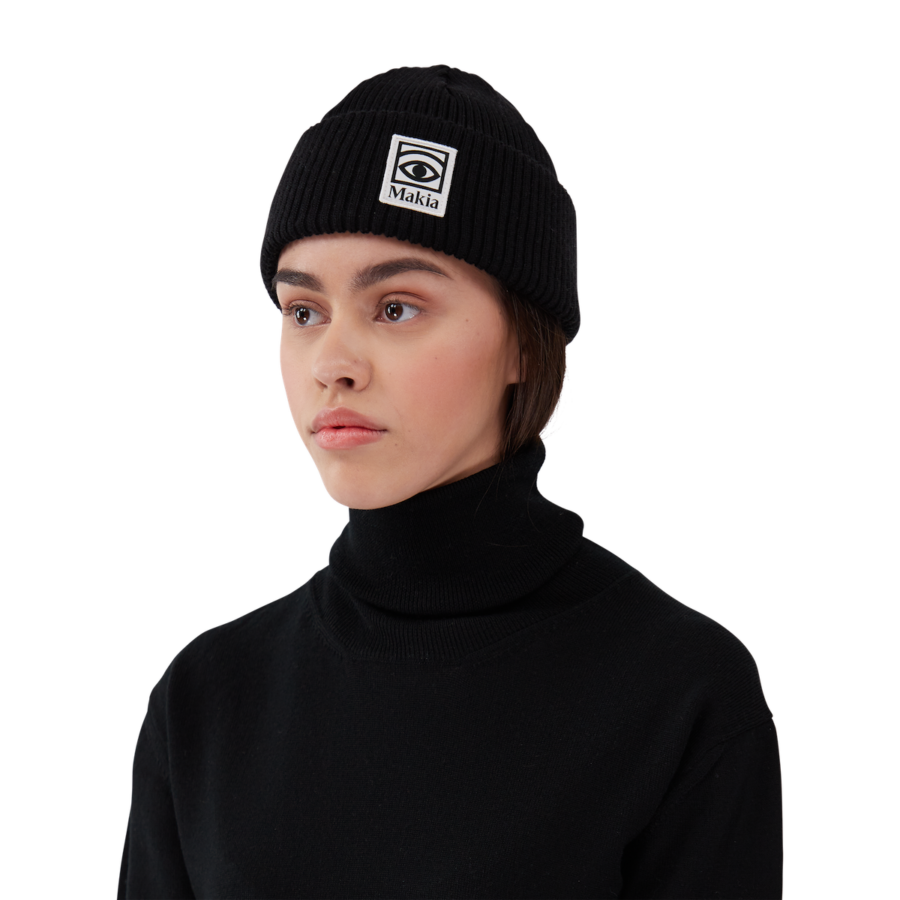 Makia x Olle Eksell - Ögon Wool Beanie, Black