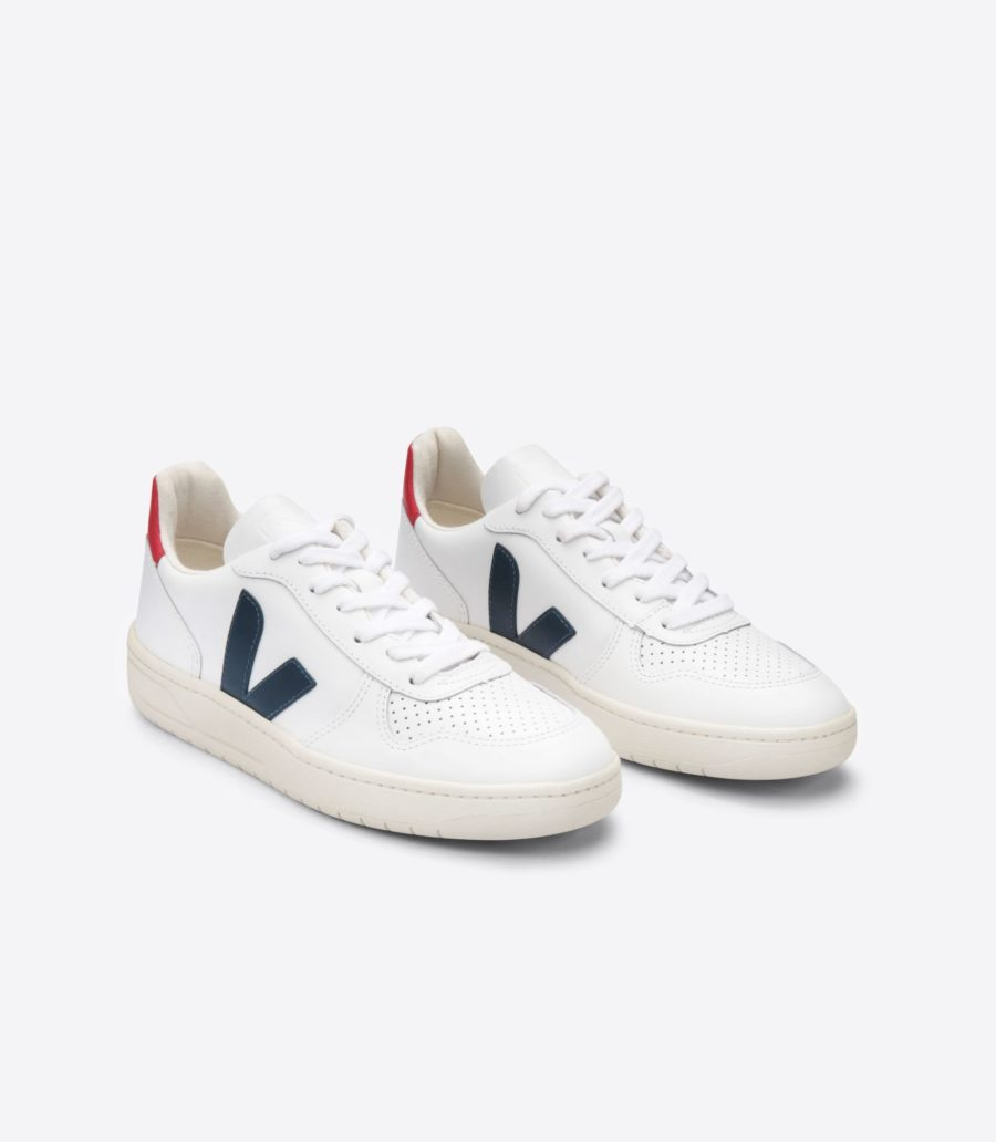 VEJA - V10 Leather, Extra White Nautico