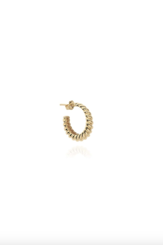 T.I.T.S. - Croissant Earring, Gold
