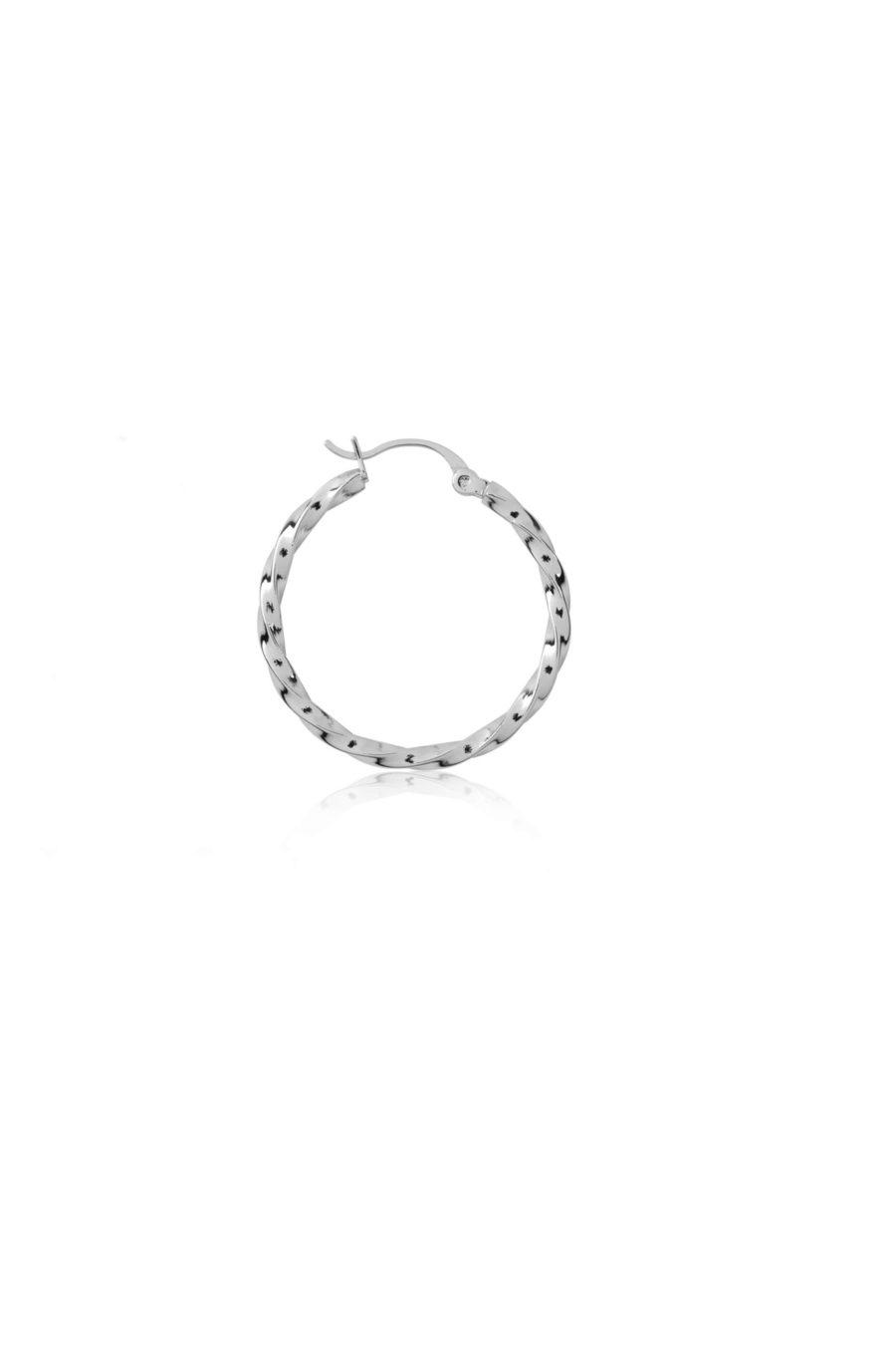 T.I.T.S. - Twist Hoop Medium, Silver