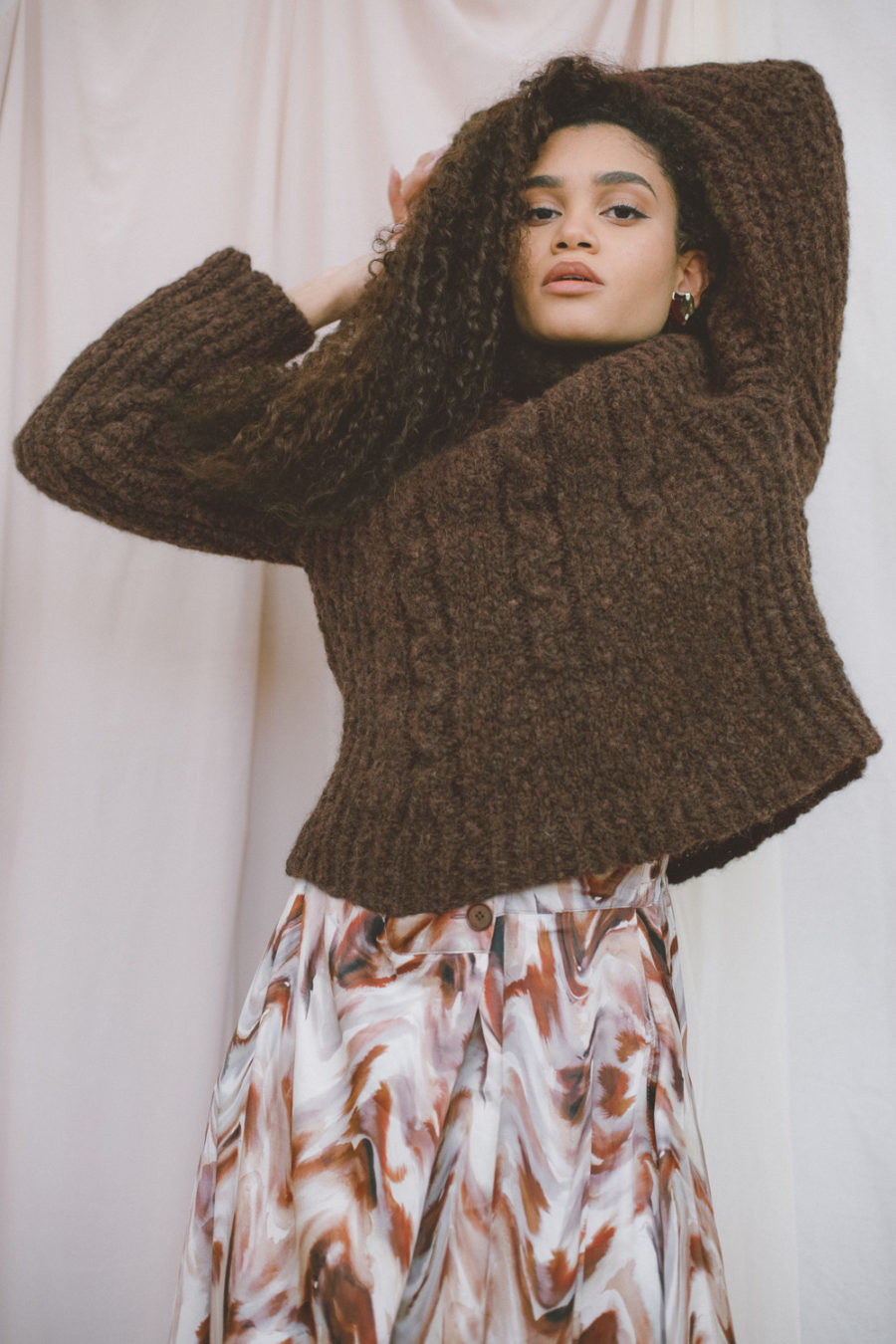 Cossac - Knit Wool Jumper, Chocolate
