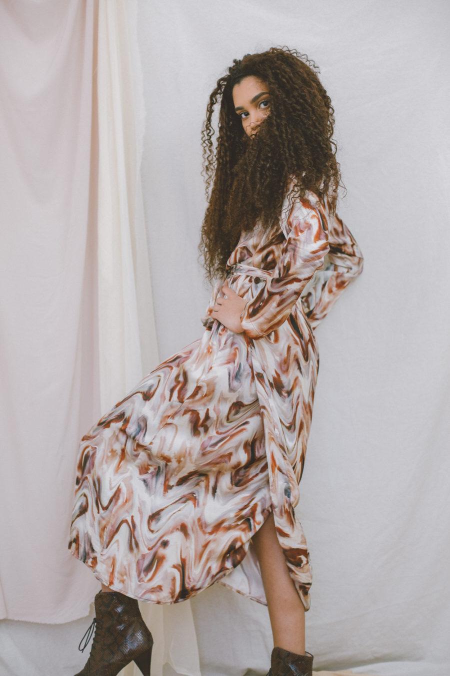 Cossac - Reversible Dress, Autumn Print
