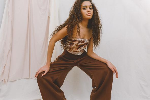 Cossac - Chocolate Asymmetric Trousers