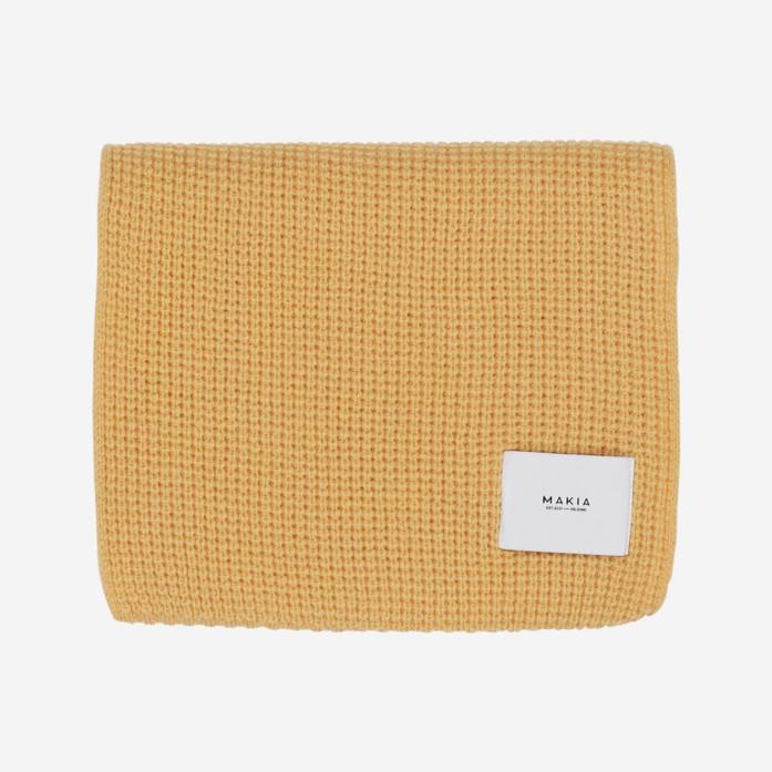 Makia - Merino Wool Snug Scarf, Ochre