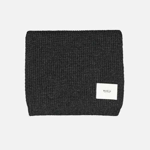 Makia - Snug Scarf, Dark Grey Merino Wool