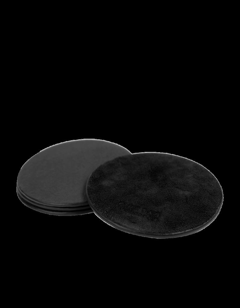 O My Bag - Leather Coasters, Black