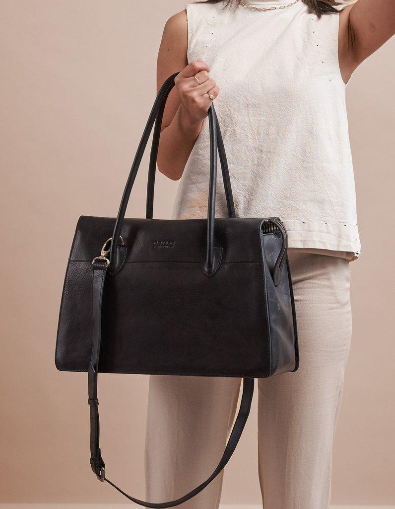 O My Bag - Kate Bag, Black Stromboli Leather