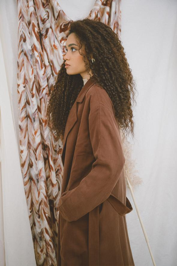 Cossac - Water-resistant Trench Coat, Chocolate