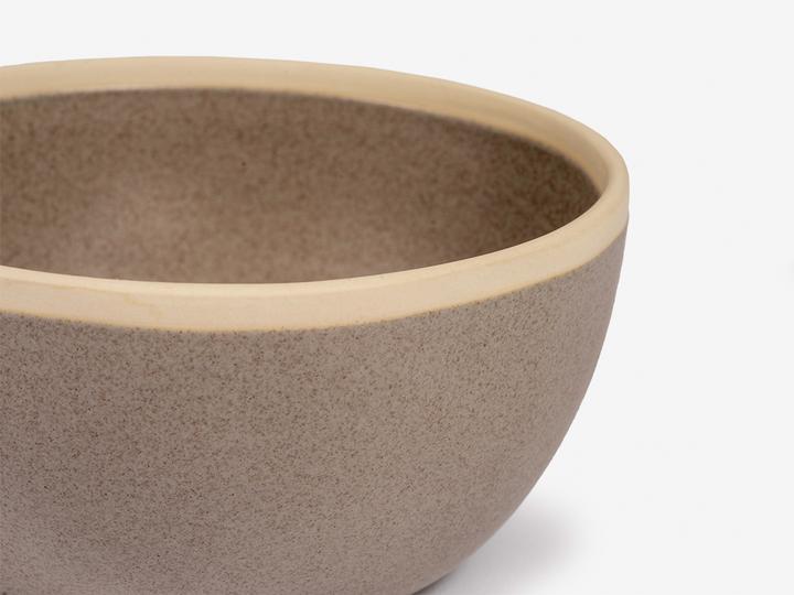 Folkdays - Grey Ceramic Bowl With White Rim, Small