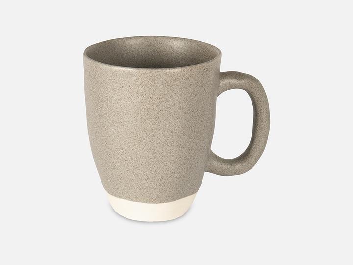 Folkdays - Grey Ceramic Mug With White Rim