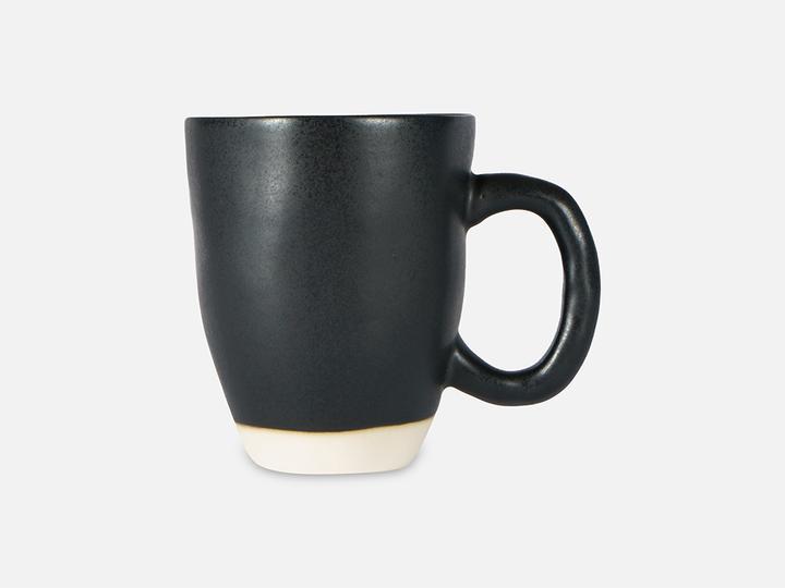 Folkdays - Black Ceramic Mug With White Rim
