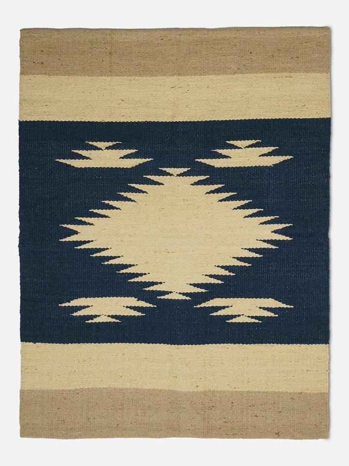 Folkdays - Jute Carpet with Jagged Pattern