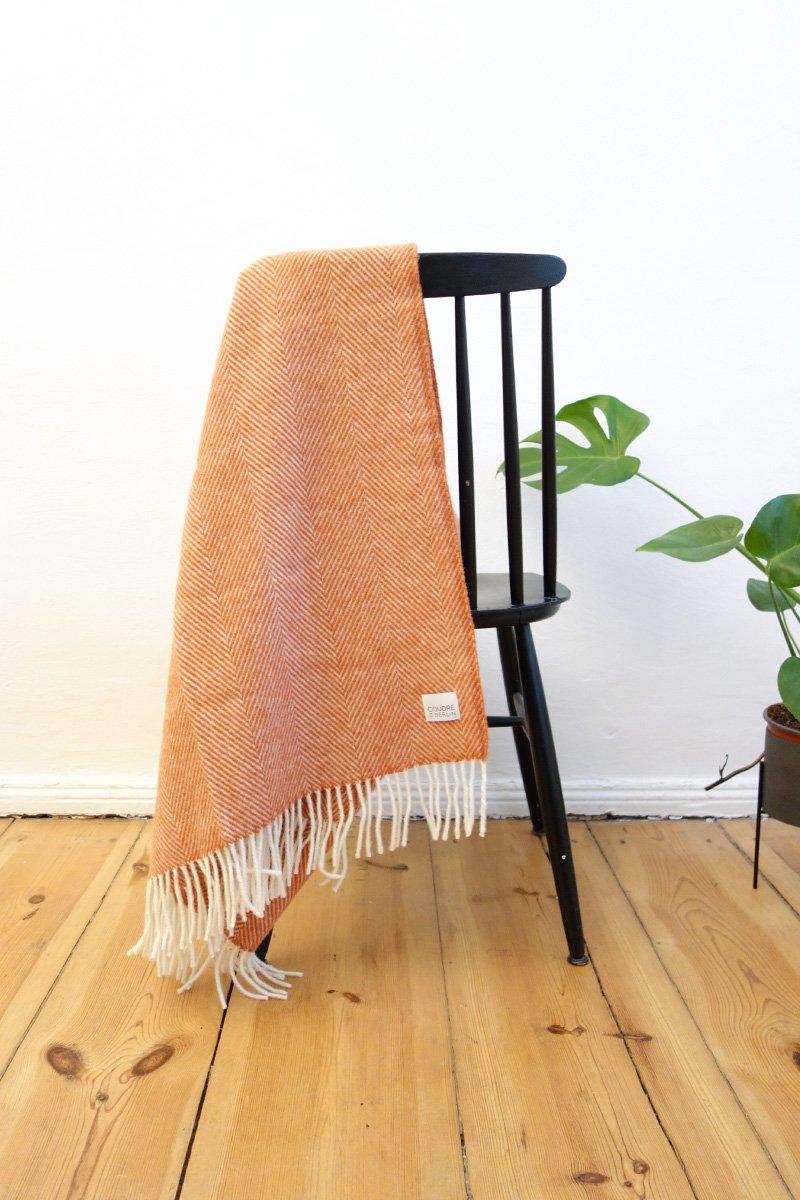 Coudre Berlin - Wool Throw, Herringbone Terracotta