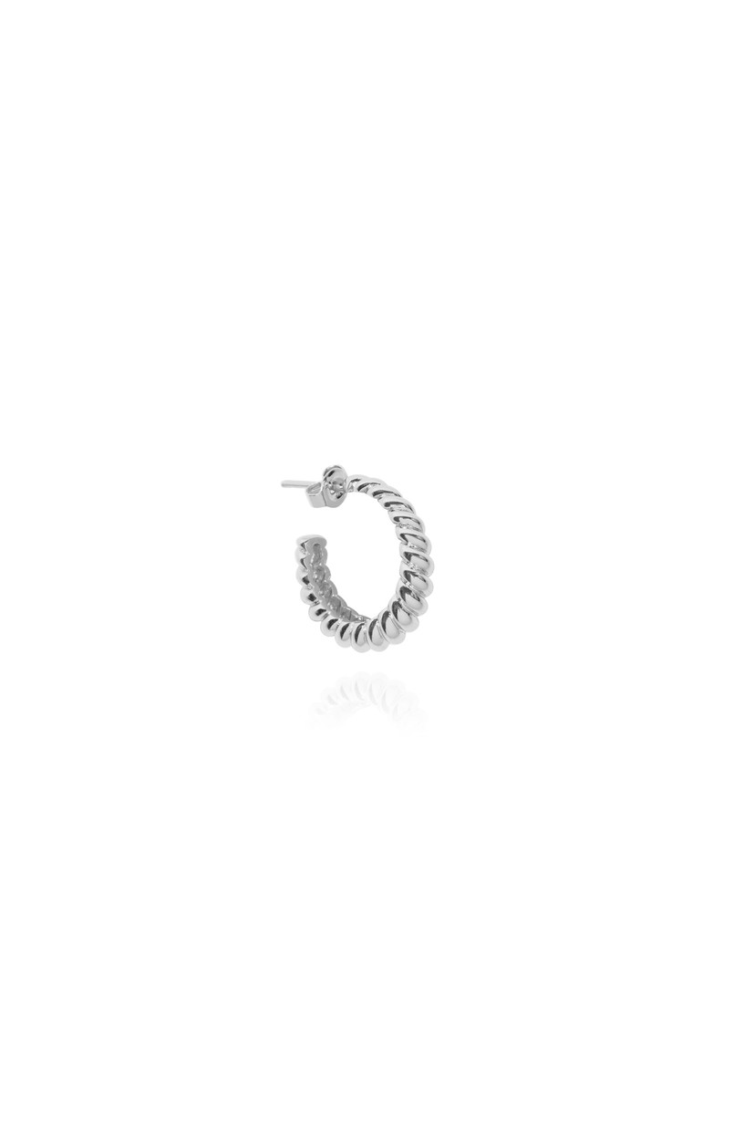 T.I.T.S. - Croissant Earring, Silver
